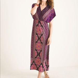 XLarge Chico's 3 mixed print bohemian Maxi dress